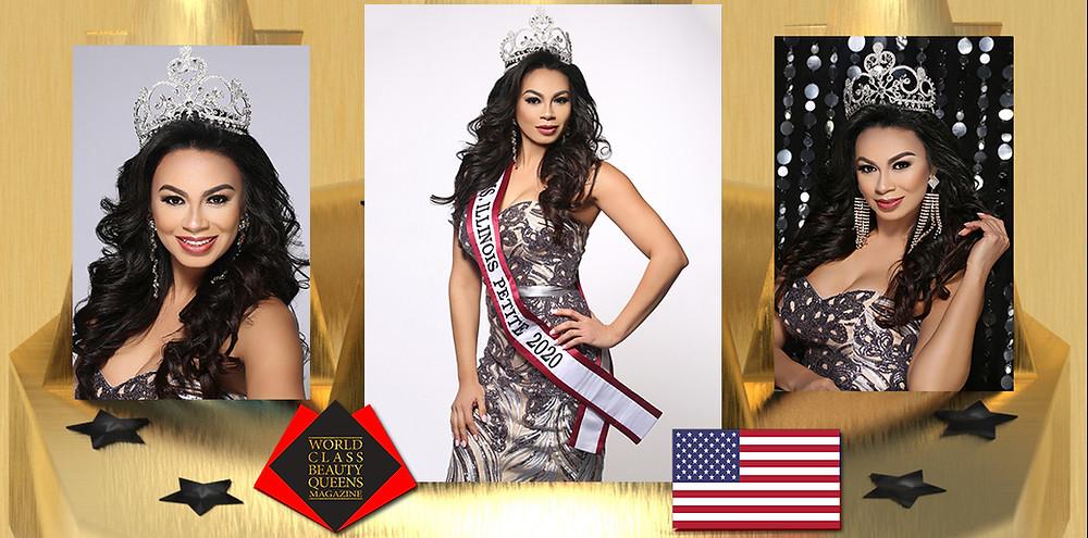 Ana Perez Ms. Illinois Petite 2020, World Class Beauty Queens Magazine, Photo by Eva Flis