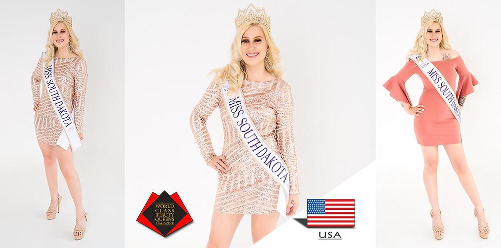 World Class Beauty Queens Magazine, Jana Marie Vetter Miss South Dakota Earth 2019,
