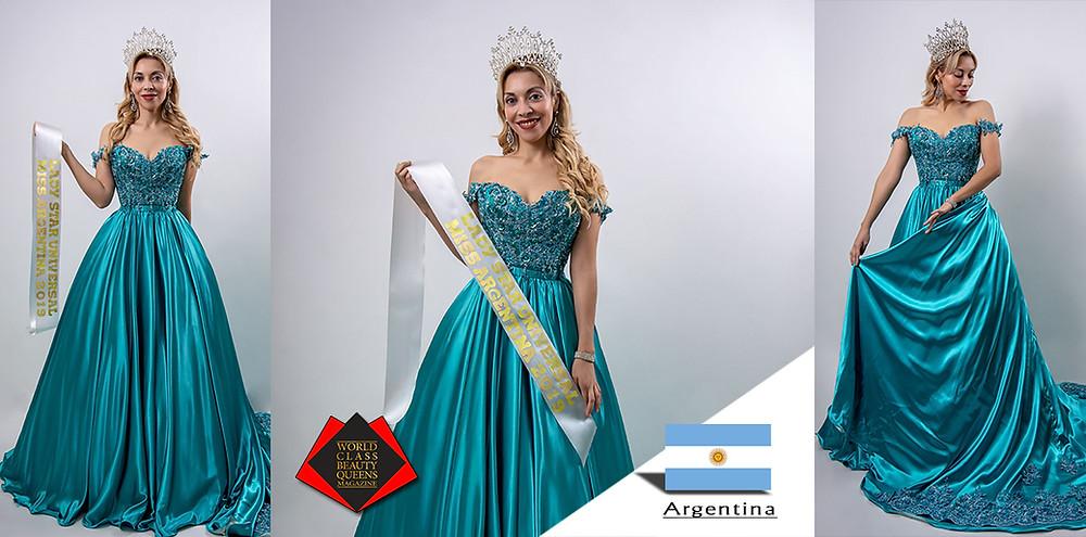 Fernanda Guzmán de Baigorria Lady Star Universal Miss Argentina 2019, World Class Beauty Queens Magazine,