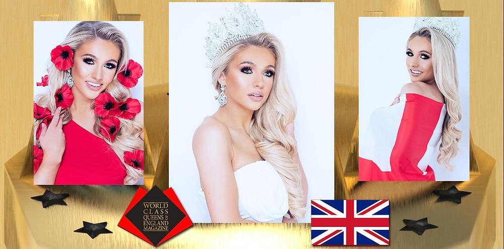 Georgia Nickerson Miss Intercontinental England 2019/2020, World Class Queens of England Magazine,