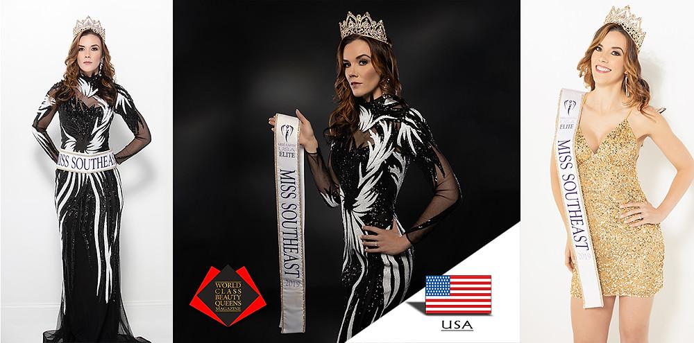 Lindsay Shockey Elite Miss Southeast USA Earth 2019, World Class Beauty Queens Magazine,