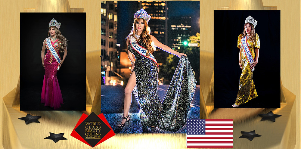 Corazon Ugalde Yellen Armenta Mrs. Asia USA California 2018 - 2019, World Class Beauty Queens Magazine,