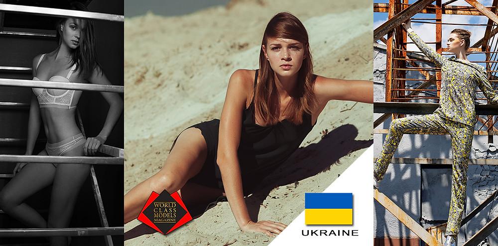 Model: Olha Kersting, World Class Models Magazine, Left Photo by Andriy Goncharenko, Center Photo by Ann Chekan, Right Photo by Andriy Goncharenko