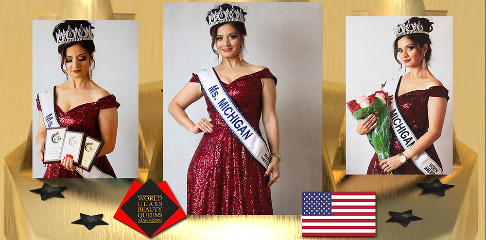 Radhika Shukla Ms Michigan North America 2020, World Class Beauty Queens Magazine,