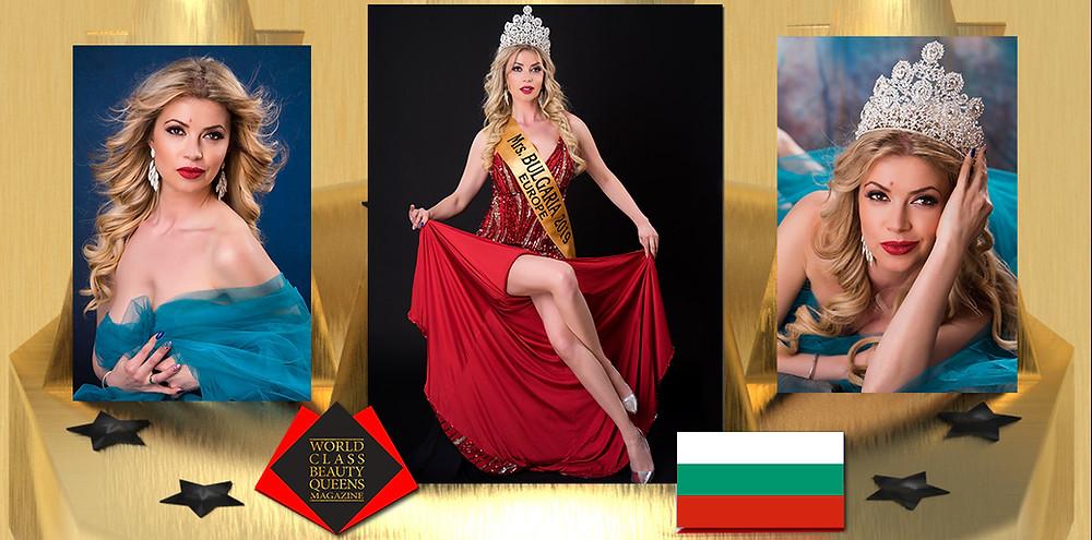 Emiliana Stoimenova Mrs. Bulgaria Europe 2019, World Class Beauty Queens Magazine,