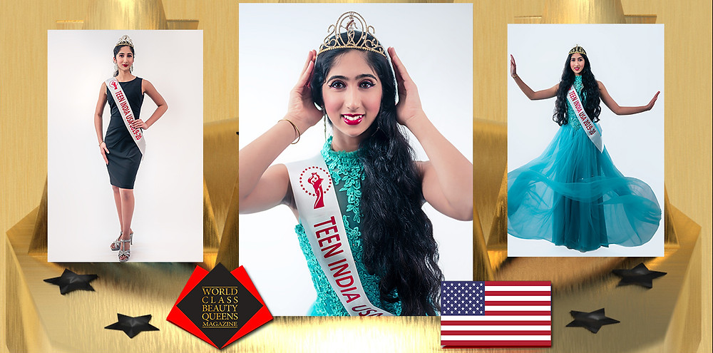 Sidhya Ganesh Miss Teen India USA 2019-2020, World Class Beauty Queens Magazine,