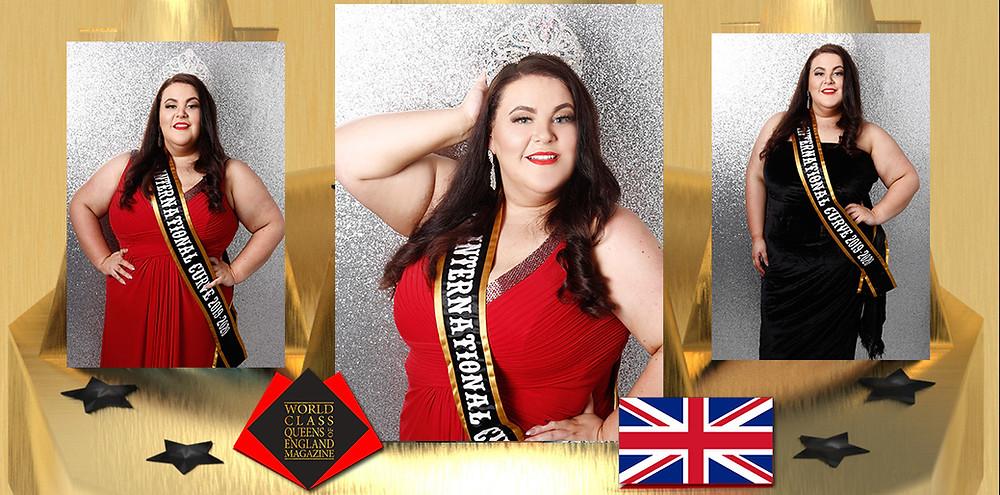 Laura Gentles Ms International Curve 2019/2020, World Class Queens of England Magazine,