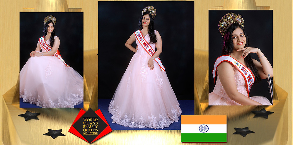 Nimmy Koshy Mrs India United Nations 2020 , World Class Beauty Queens Magazine,