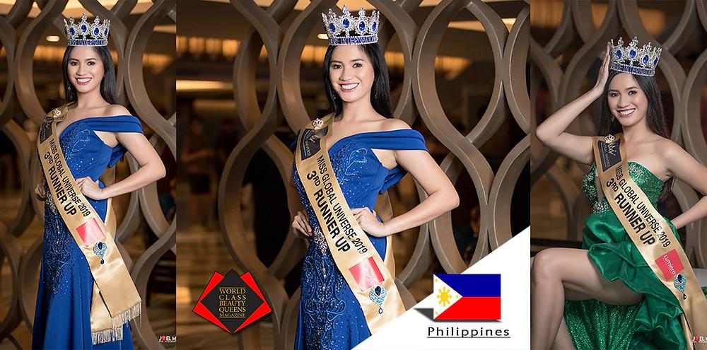 Letelle S. Perez Miss Global Universe 2019, 3rd Runner Up Miss Lumiere International, World Class Beauty Queens Magazine