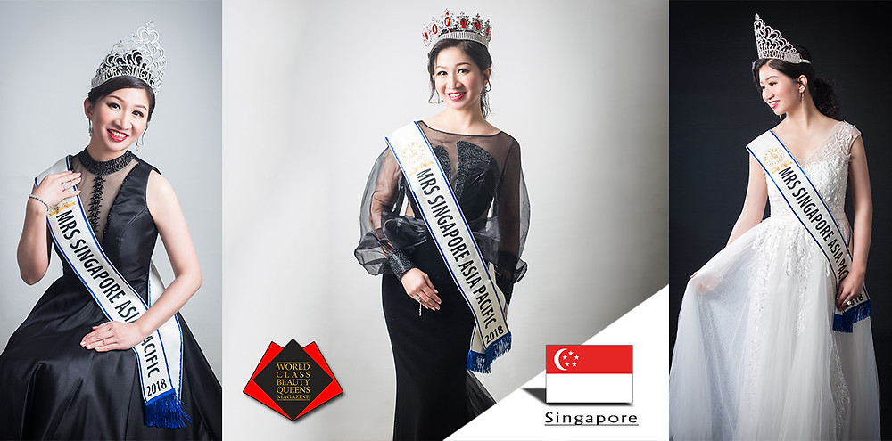 Miriam R Ng Mrs Singapore Asia-Pacific 2018, World Class Beauty Queens Magazine,