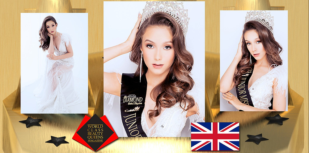 Sasha Star Junior miss diamond UK 2019, World Class Beauty Queens Magazine, Photo by Charlotte Clemie