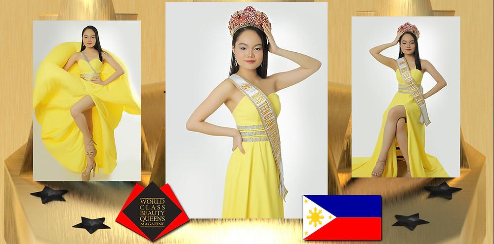 Mariel Angela O. Prion Miss Teen Glam International 2020, World Class Beauty Queens Magazine,