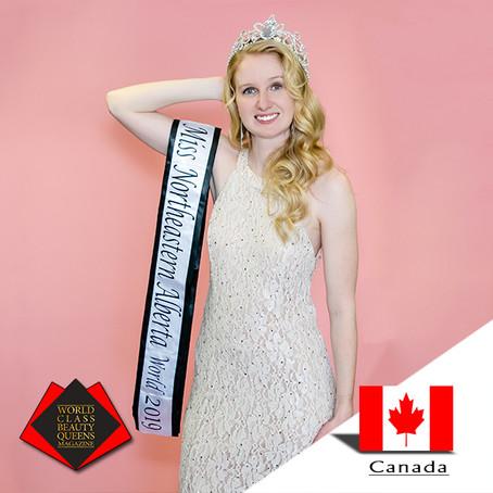 Natasha Parkinson Miss Northeastern Alberta World 2019