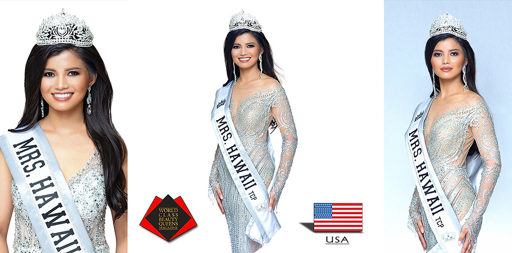 Meranie Gadiana Rahman Mrs Hawaii Transcontinental 2019, World Class Beauty Queens Magazine,