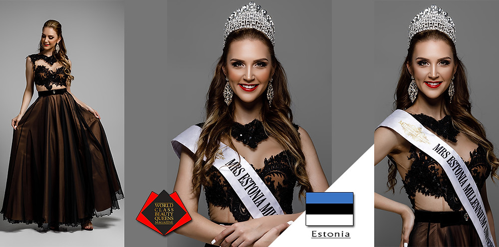 Kätlin Loonde Mrs Estonia Millennium Universe 2019, World Class Beauty Queens Magazine,