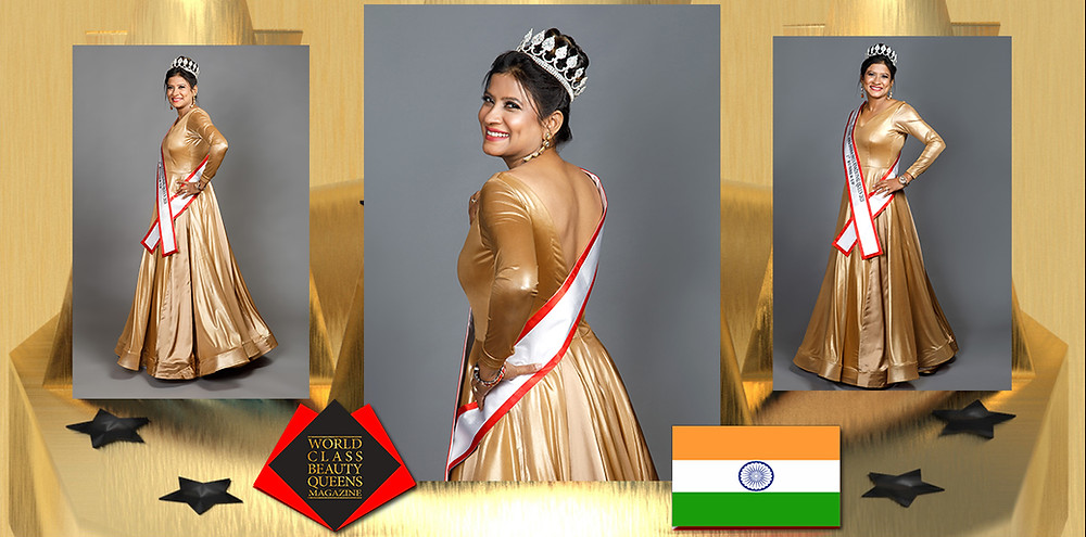 Sevana Zemira Jacques Mrs India International Queen 2020 1st Runner Up, World Class Beauty Queens Magazine,