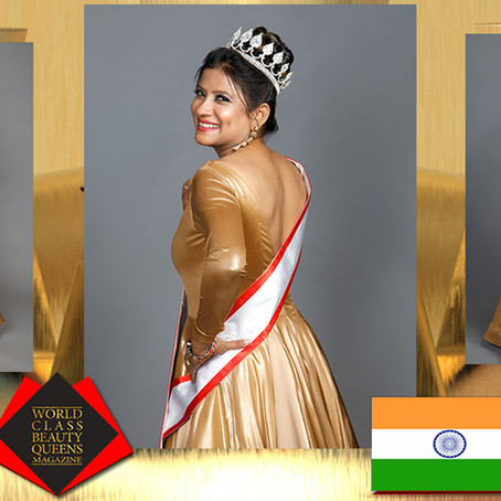 Sevana Zemira Jacques Mrs India International Queen 2020 1st Runner Up