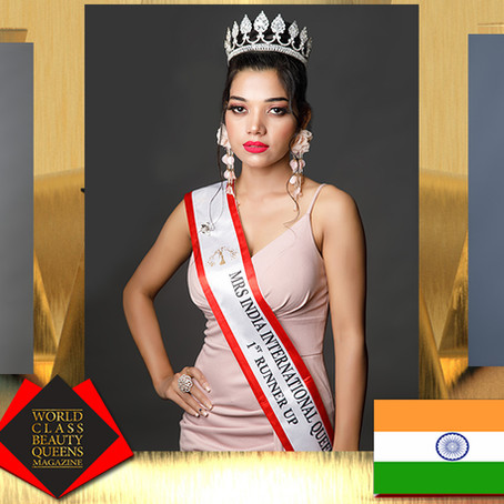 Pooja Gangyan Mrs India International Queen 2020 1st Runner Up