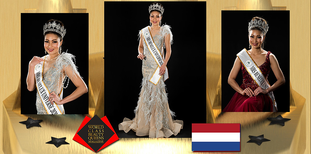 Dia Matthes-Srinorakoot Mrs Universe Benelux 2020, World Class Beauty Queens Magazine,