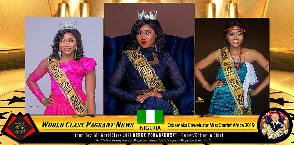 Obiamaka Enweluzor Miss Starlet Africa 2019, World Class Beauty Queens Magazine,