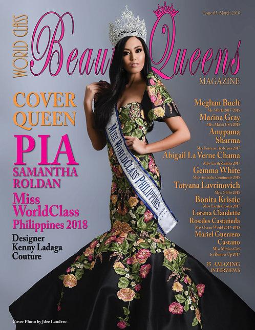 Issue 63 World Class Beauty Queens Magazine