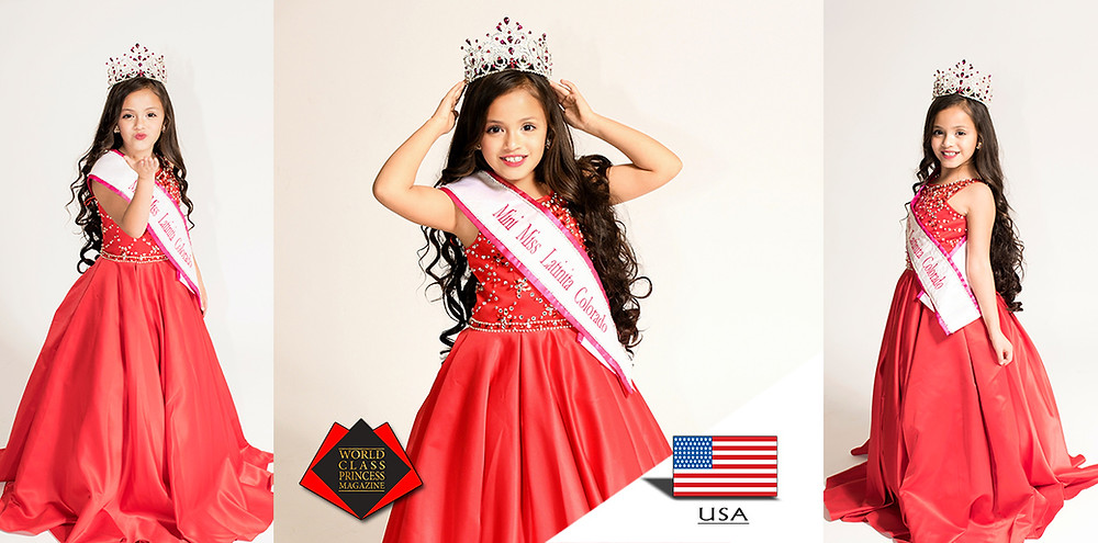 Yazuri Odalis Flores Rivas, Mini Miss Latinita Colorado 2018/2019, Photo by MVA Photography