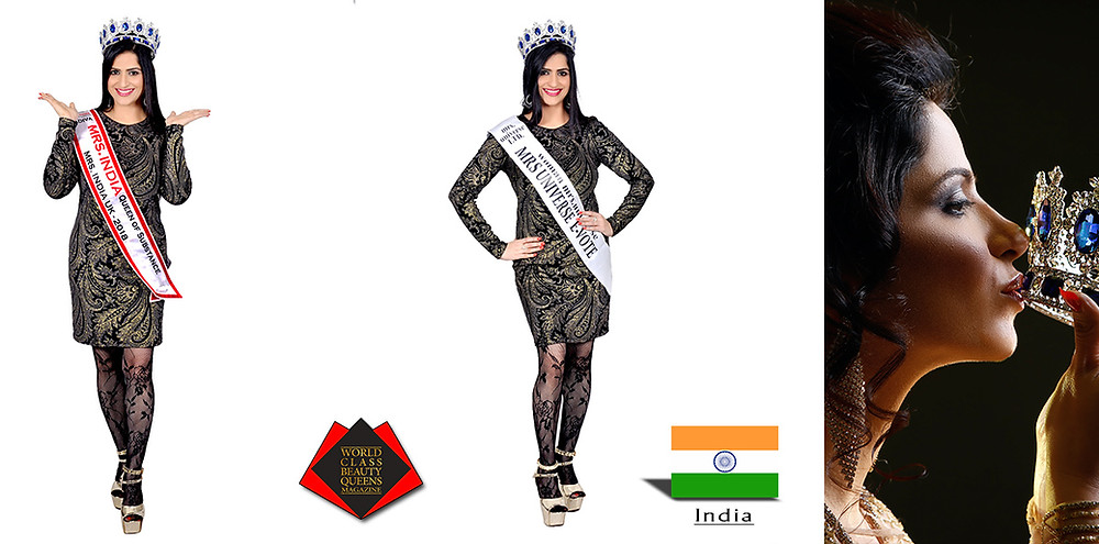 Dr. Amarpreet Kaur Chawla Mrs Universe evote 2018, World Class Beauty Queens Magazine,