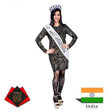 Dr. Amarpreet Kaur Chawla Mrs Universe evote 2018