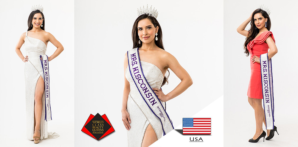 Shailja Tiku Mrs Wisconsin International 2019, World Class Beauty Queens Magazine, Photo by The Refinery Photo Studio