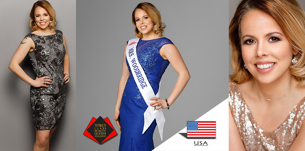 Allison Polizzi Mrs. Woodbridge Virginia 2019, World Class Beauty Queens Magazine, Photo by John Herzog, HMUA Brandi Pope