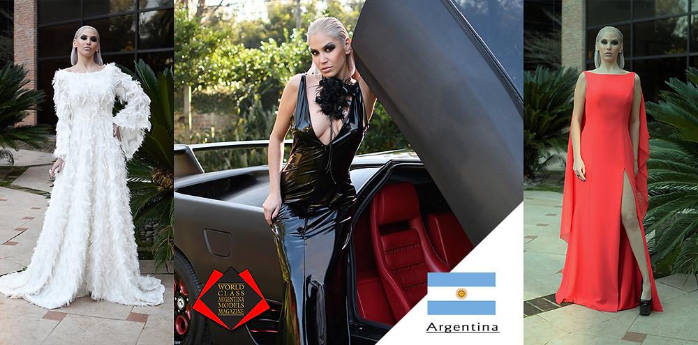 Model: Florcita Bankowski, Dress Designer: Patricia Profumo, World Class Argentina Models Magazine, Photo by Leonardo Lombardo