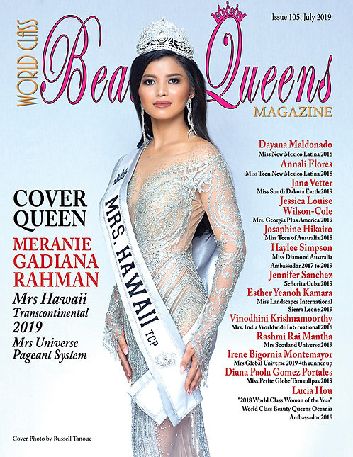 Issue 105 World Class Beauty Queens Magazine
