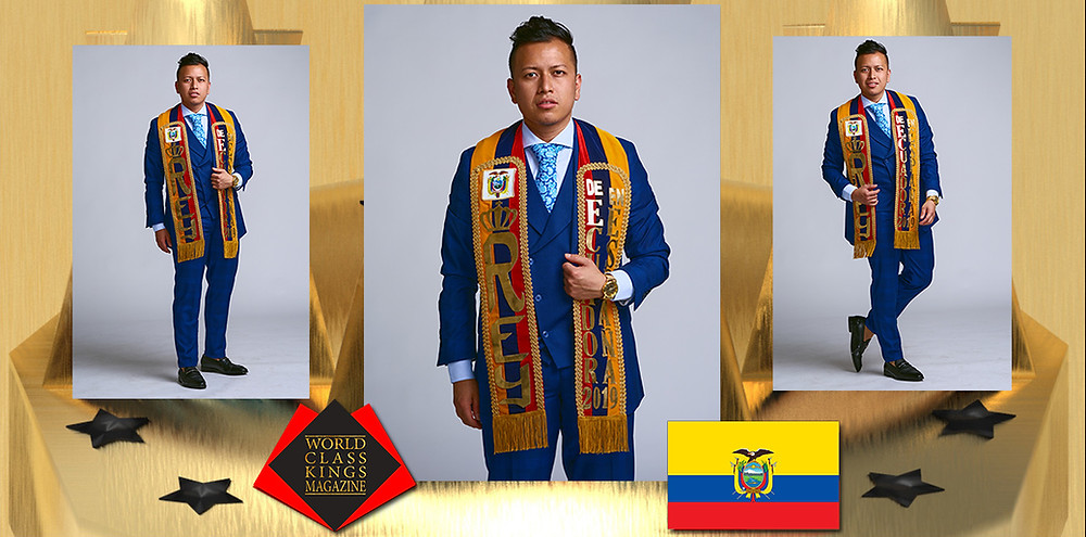 Carlos Omar Burgos Montoya Rey De Equador en Espana 2019, World Class Kings Magazine, Photo by André Toar