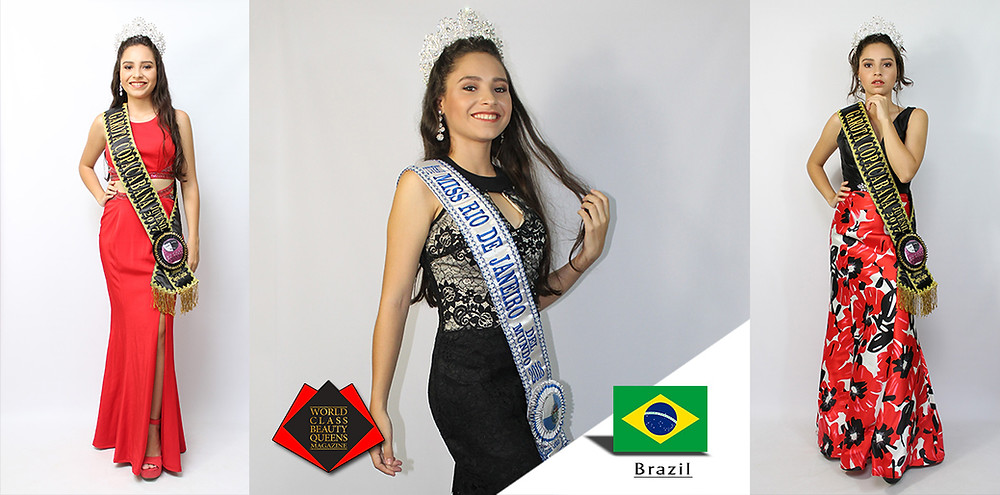 Carol Miranda Miss Rio de Janeiro Juvenil Del Mundo 2018, World Class Beauty Queens Magazine, Photo by Jadson Lauriano
