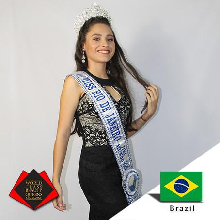 Carol Miranda Miss Rio de Janeiro Juvenil Del Mundo 2018
