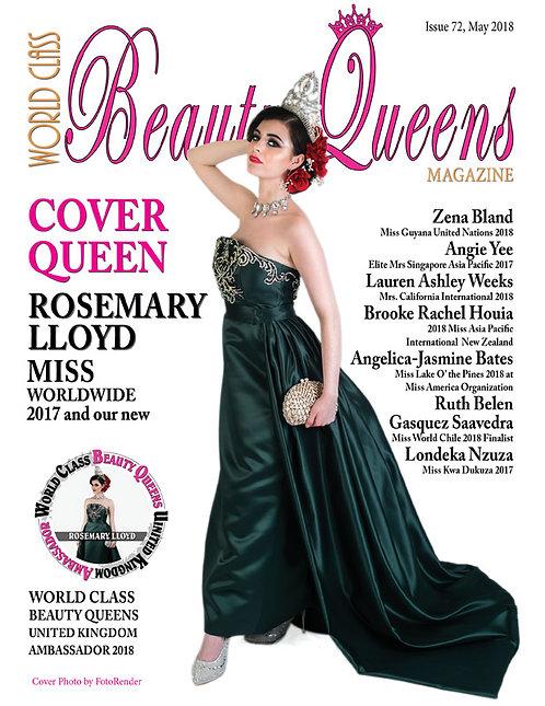 Issue 72 World Class Beauty Queens Magazine