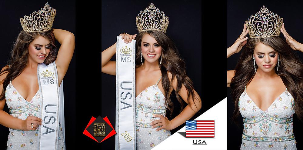 Tionna Kay Petramalo International Ms USA 2019, World Class Beauty Queens Magazine, Photo by Bret Josephs Photography