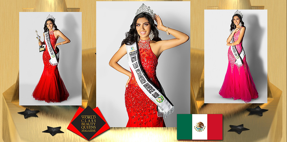 Estefania Gonzalez Rivas Miss Teen Mesoamérica Universe 2020, World Class Beauty Queens Magazine, Photographer: Eduardo Martinez, Heels: Christian Divat, Makeup and Hairstyle: Be Fashion Salon