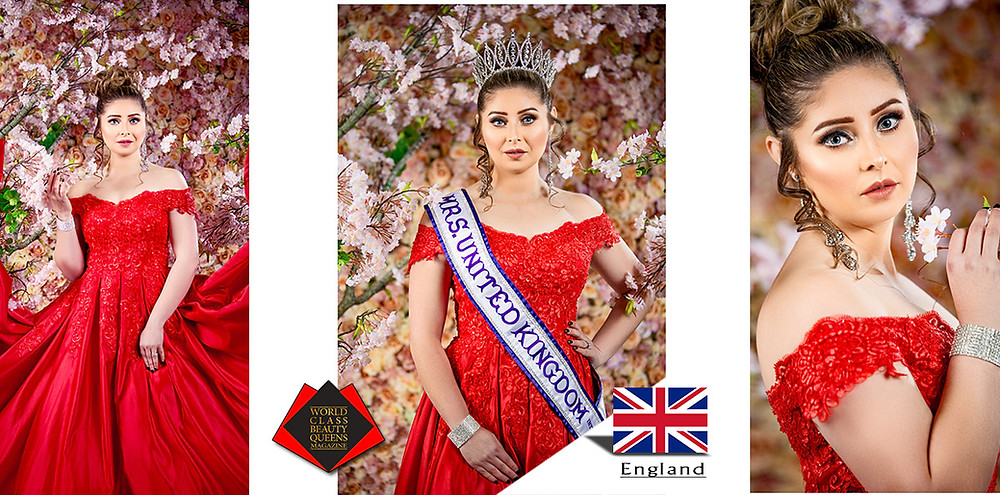Rose R K Marok Mrs United Kingdom International 2019, World Class Beauty Queens Magazine,