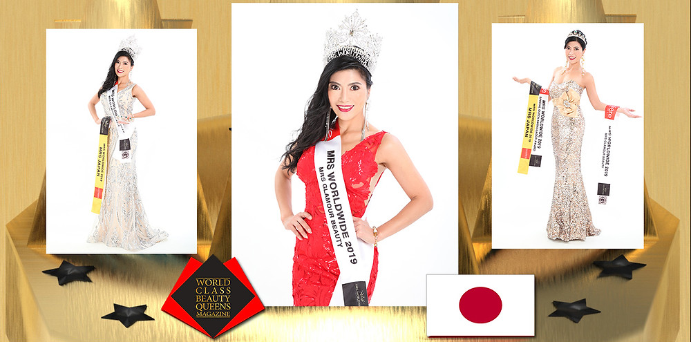Naoko Ohara Mrs. Japan Worldwide 2019, World Class Beauty Queens Magazine,
