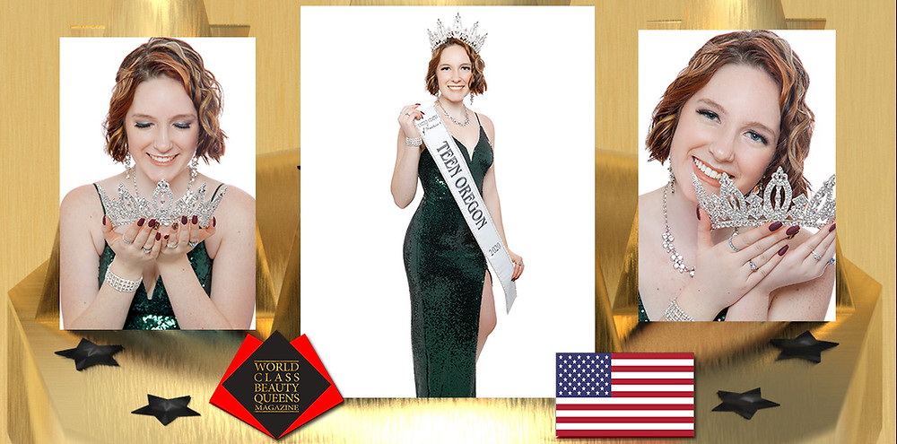 Mikayla Ann Wood United States Of America's Teen Oregon 2020, World Class Beauty Queens Magazine,