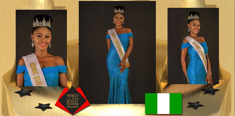 Ahanene Angela Dove Iconic Queen Nigeria 2019, World Class Beauty Queens Magazine,
