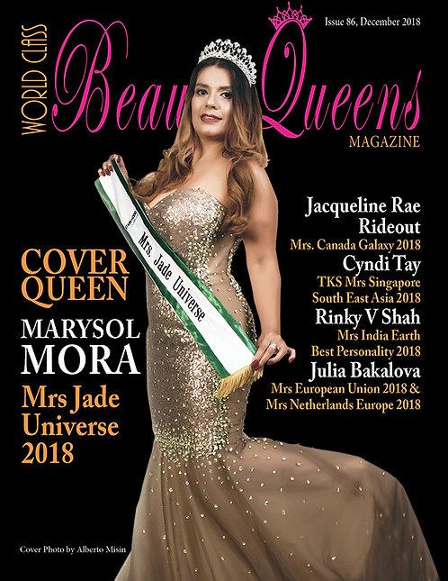 Issue 86 World Class Beauty Queens Magazine