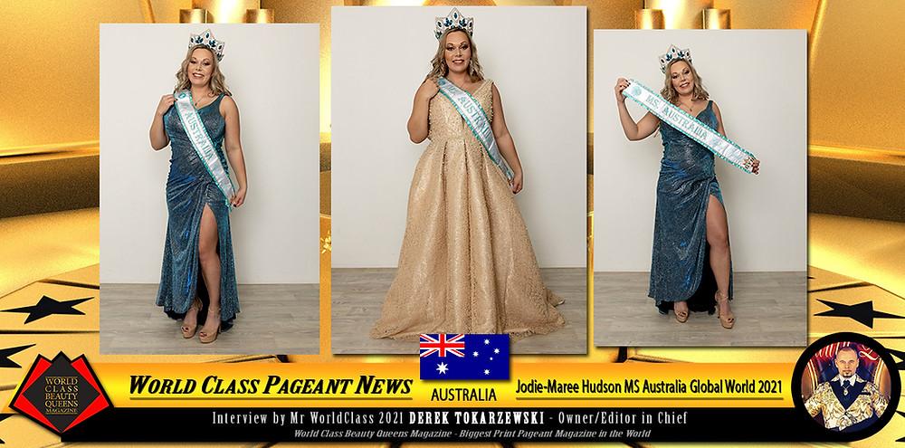 Jodie-Maree Hudson MS Australia Global World 2021, World Class Beauty Queens Magazine,