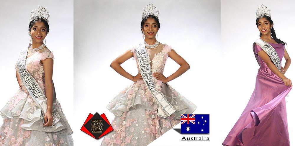 Arundhati Banerjee Miss Teen Diamond Australia 2019, World Class Beauty Queens Magazine, Photo by Greg Schwark