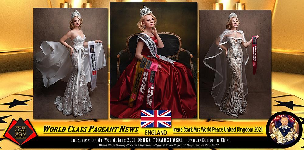 Irene Stark Mrs World Peace United Kingdom 2021, World Class Beauty Queens Magazine