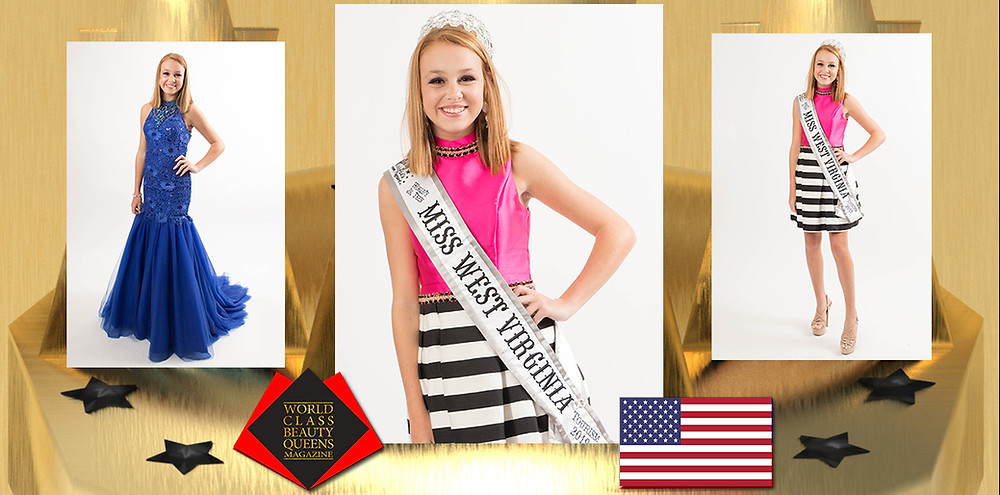 Jenna Hill World's Jr. Teen Miss West Virginia Tourism 2019, World Class Beauty Queens Magazine,