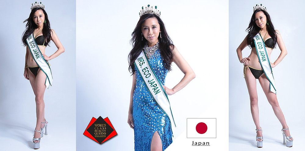 Chigusa Kondo Mrs ECO Japan 2019, World Class Beauty Queens Magazine, Photo by Asumi Endo