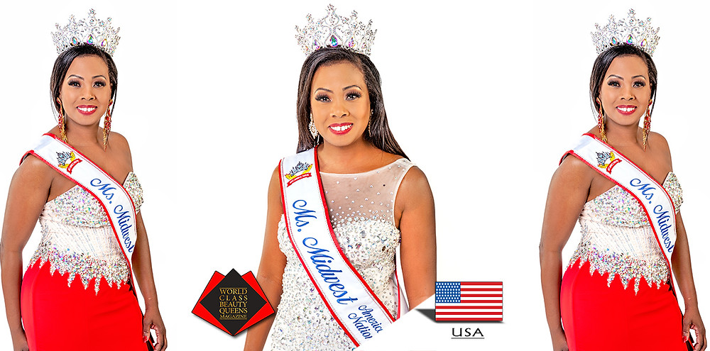 Dominique Peterson Ms. Midwest America Nation 2018, World Class Beauty Queens Magazine,