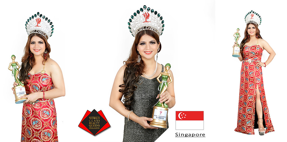 Priti Sharma Elite Singapolitan Worldwide 2019/20, World Class Beauty Queens Magazine,